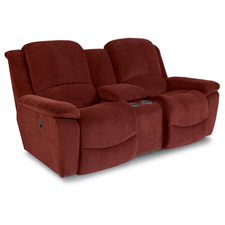 Owen Power La-Z-Time® Loveseat with Middle Console