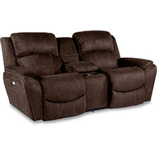 Barrett Power La-Z-Time® Loveseat with Middle Console