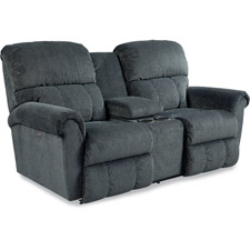 Briggs La-Z-Time® Full Reclining Loveseat with Middle Console