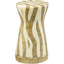 Hidden Treasures Zebra Accent Table