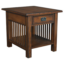 Canyon Rectangular Drawer End Table